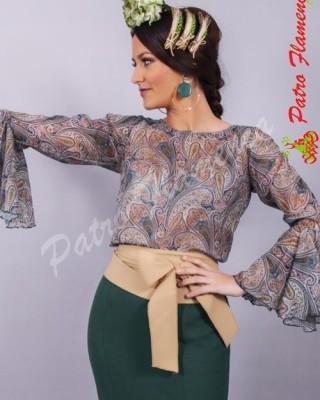 Camisa Cachemir Gasa Flamenca