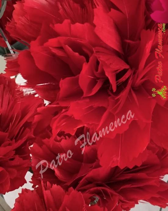Flor Clavel Plumas