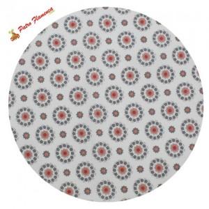 Pajarita-Pañuelo Estampado Flores Coral