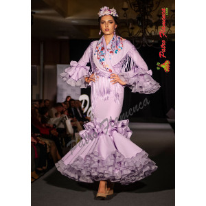 Traje Abanico Flamenca