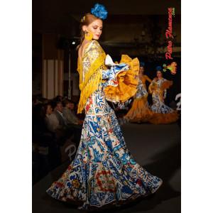 Traje Angela Azulejos Flamenca