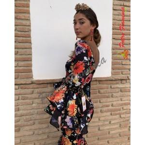 Traje Palenciana Flores Flamenca