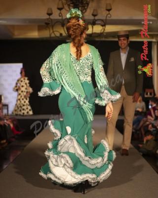 Traje Cielo Verde Flamenca