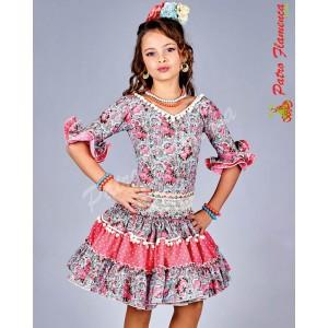 Traje Arrecife Flamenca Niña