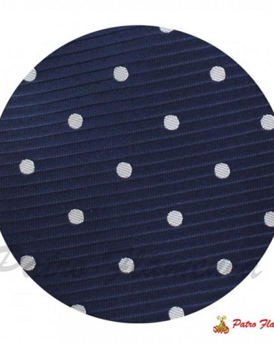 Corbata  Azul lunar Blanco
