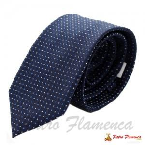 Corbata Marino Motas Cuadradas