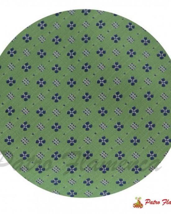 Corbata  Verde estampado flores marino.