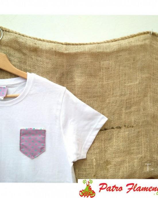 Camiseta Lila Lunares