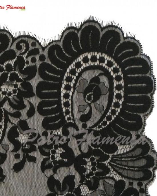 Mantilla Paloma Negra