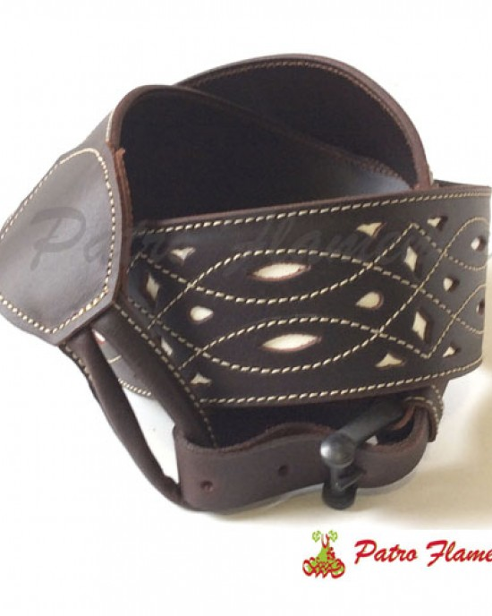 Cinturón Lirio Cuero Repujado Señora
