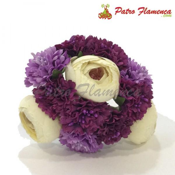 Flor Ramillete Niña Bicolor