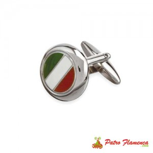 Gemelos Bandera Italia Redondos