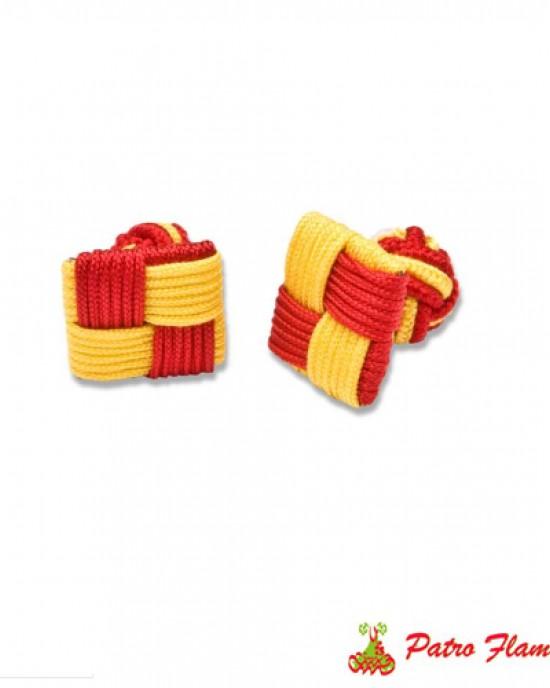 Gemelos Cuadrados Rojo-Amarillo