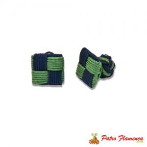 Gemelos Cuadrados Marino-Verde